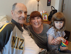 Grandpa, Susan and Emily